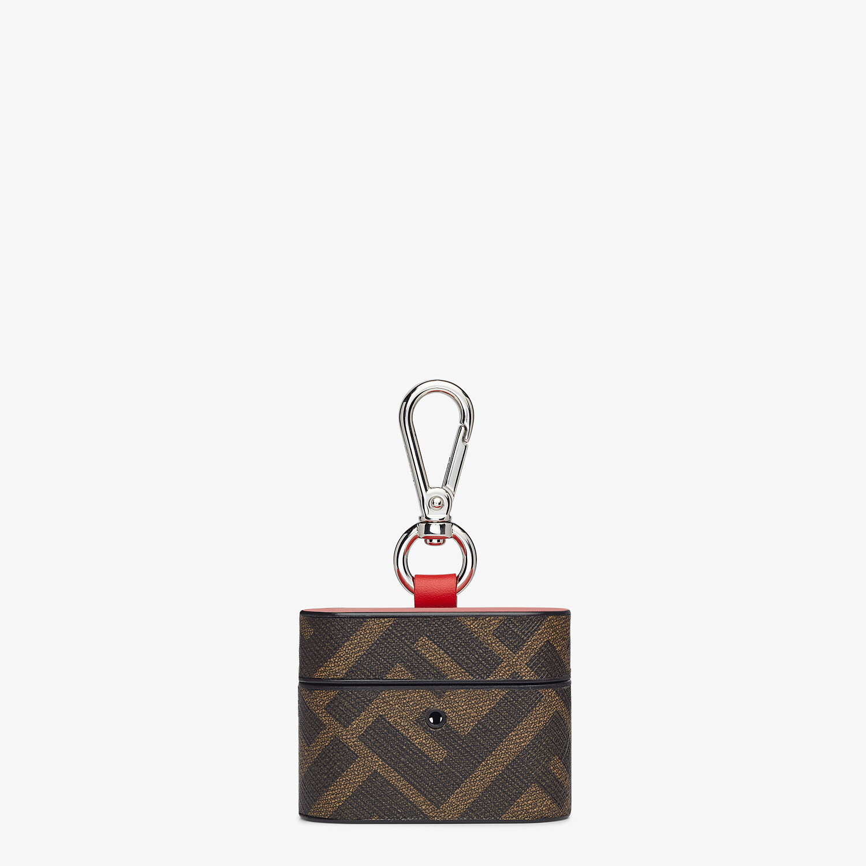 FENDI HEADPHONE HOLDER - Brown fabric case - view 1 detail