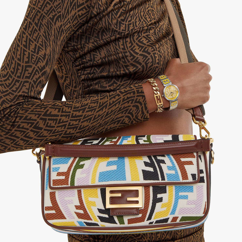 FENDI BAGUETTE - Multicolour embroidered canvas bag - view 2 detail