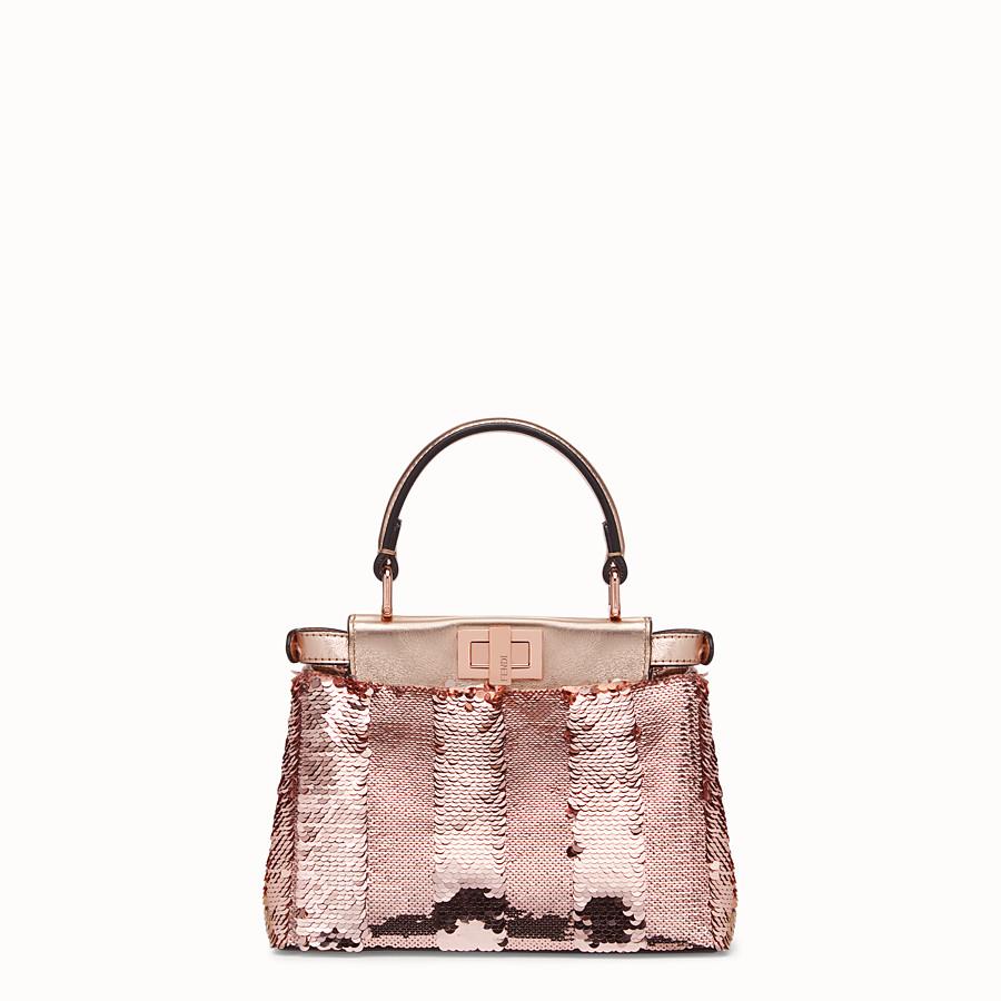 FENDI PEEKABOO ICONIC XS - Pink leather mini-bag - view 3 detail