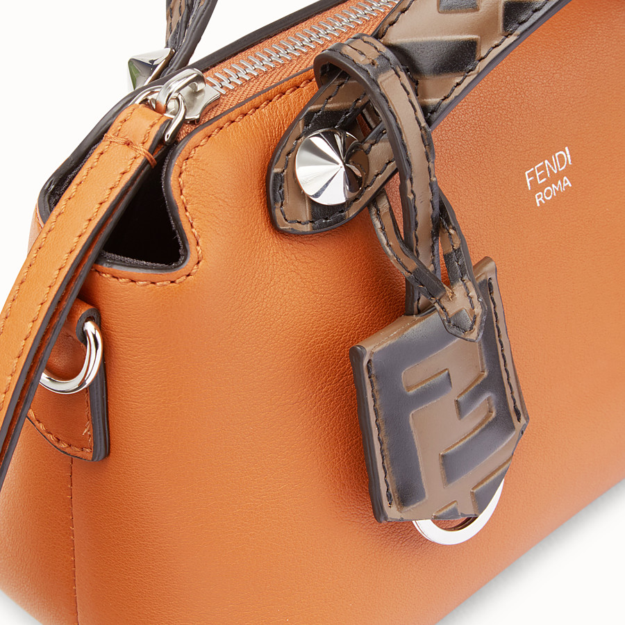 FENDI BY THE WAY MINI - Small brown leather Boston bag - view 6 detail