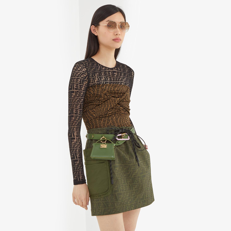 FENDI SKIRT - Green denim skirt - view 4 detail