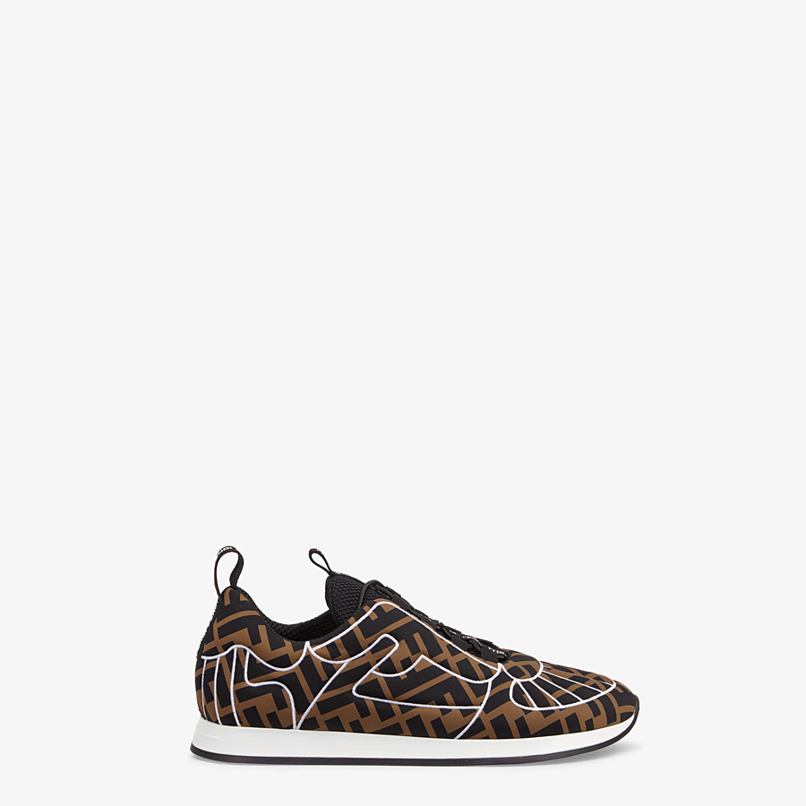 FENDI SNEAKERS - Sneakers en Lycra® marron - view 1 detail