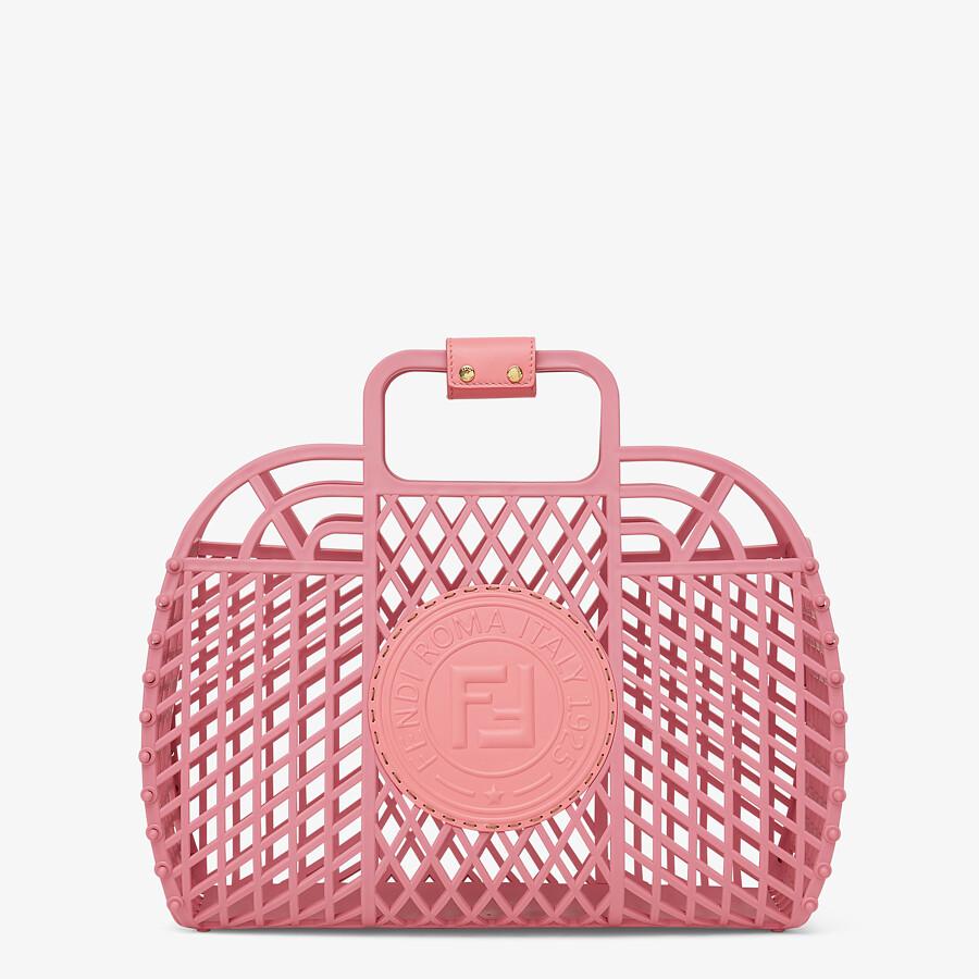 FENDI FENDI BASKET MEDIUM - Pink recycled plastic mini-bag - view 1 detail