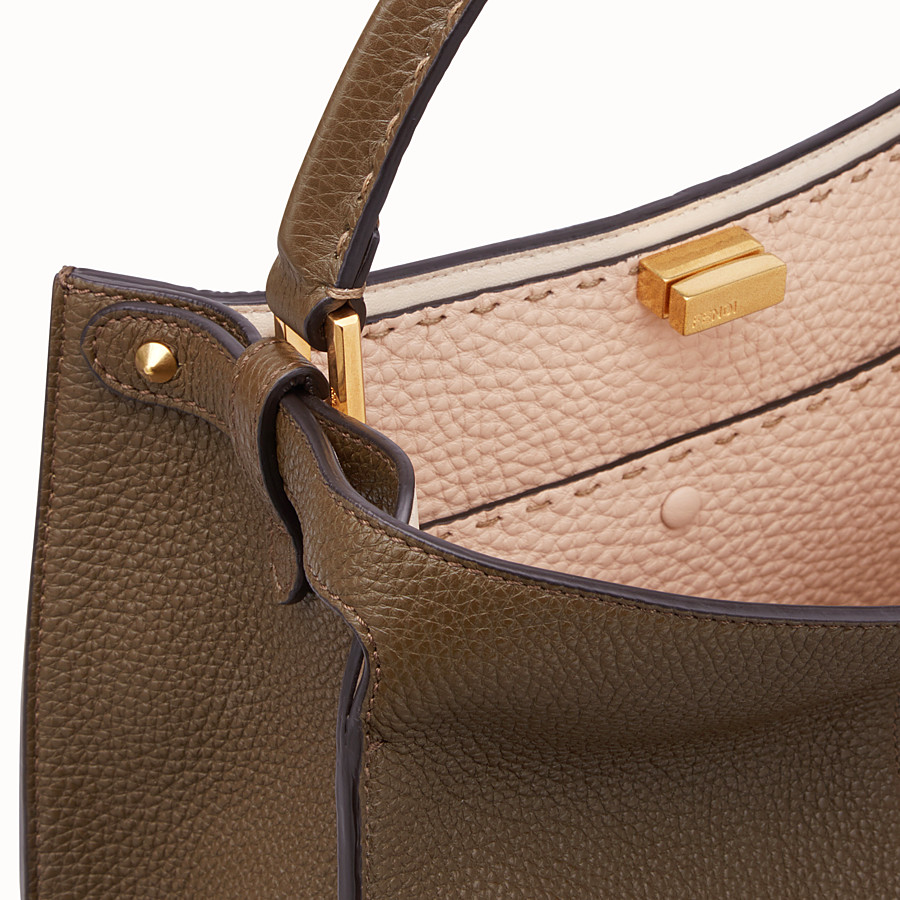 FENDI PEEKABOO X-LITE MEDIUM - Brown leather bag - view 7 detail