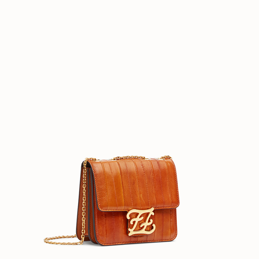 FENDI KARLIGRAPHY - Brown eel leather bag - view 3 detail