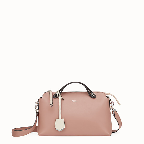 FENDI BY THE WAY REGULAR - Pink leather Boston bag - view 1 small thumbnail