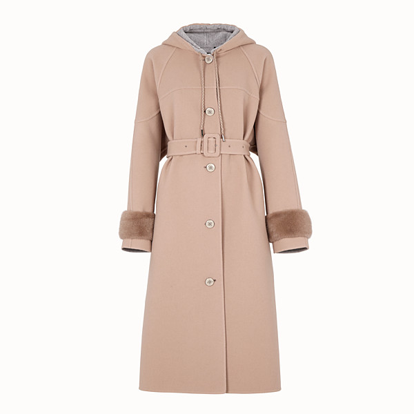 FENDI  - Beige wool parka - view 1 small thumbnail