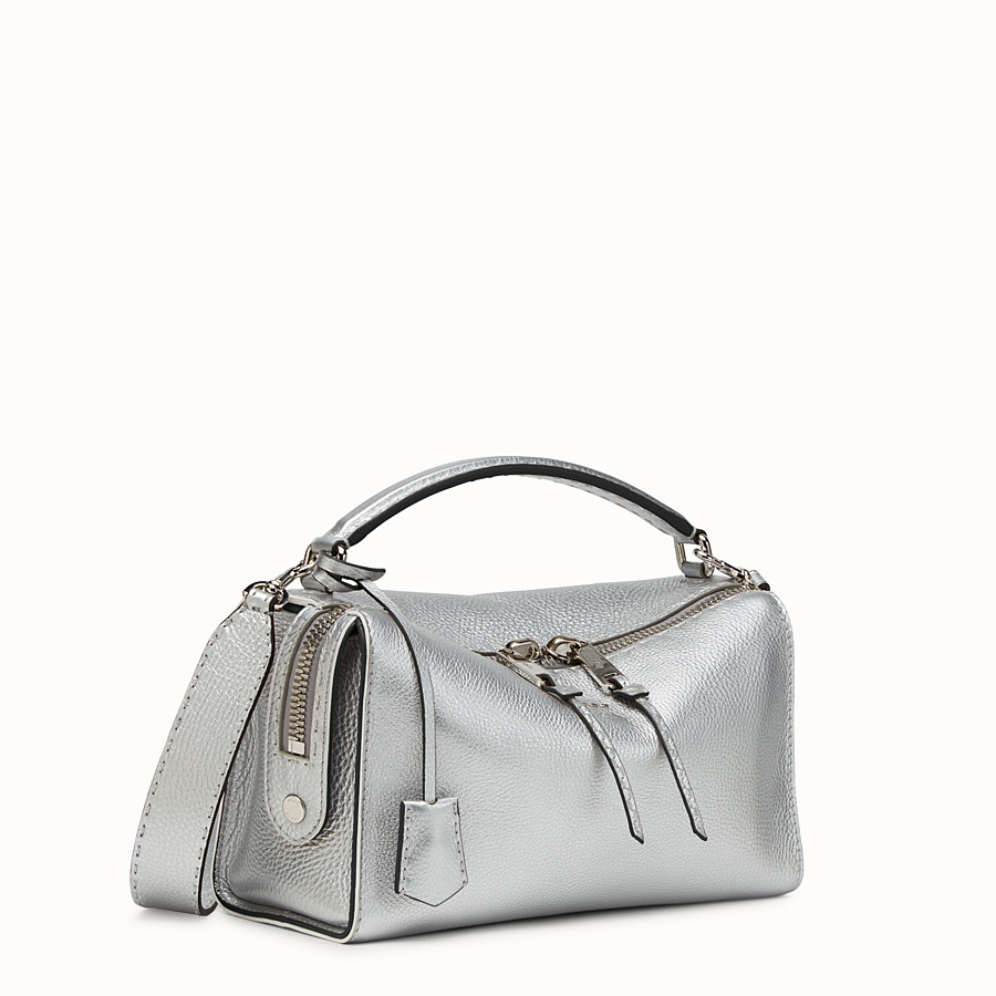 FENDI LEI SELLERIA - Silver Roman leather Boston bag - view 2 detail