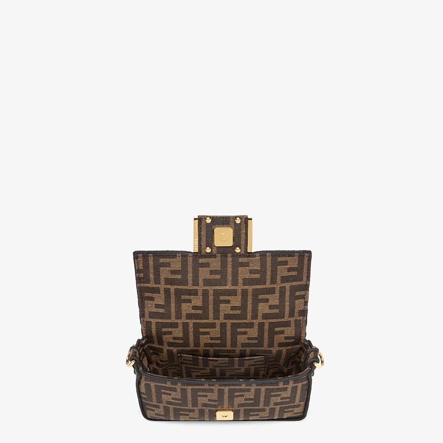FENDI MINI BAGUETTE - Brown fabric bag - view 4 detail