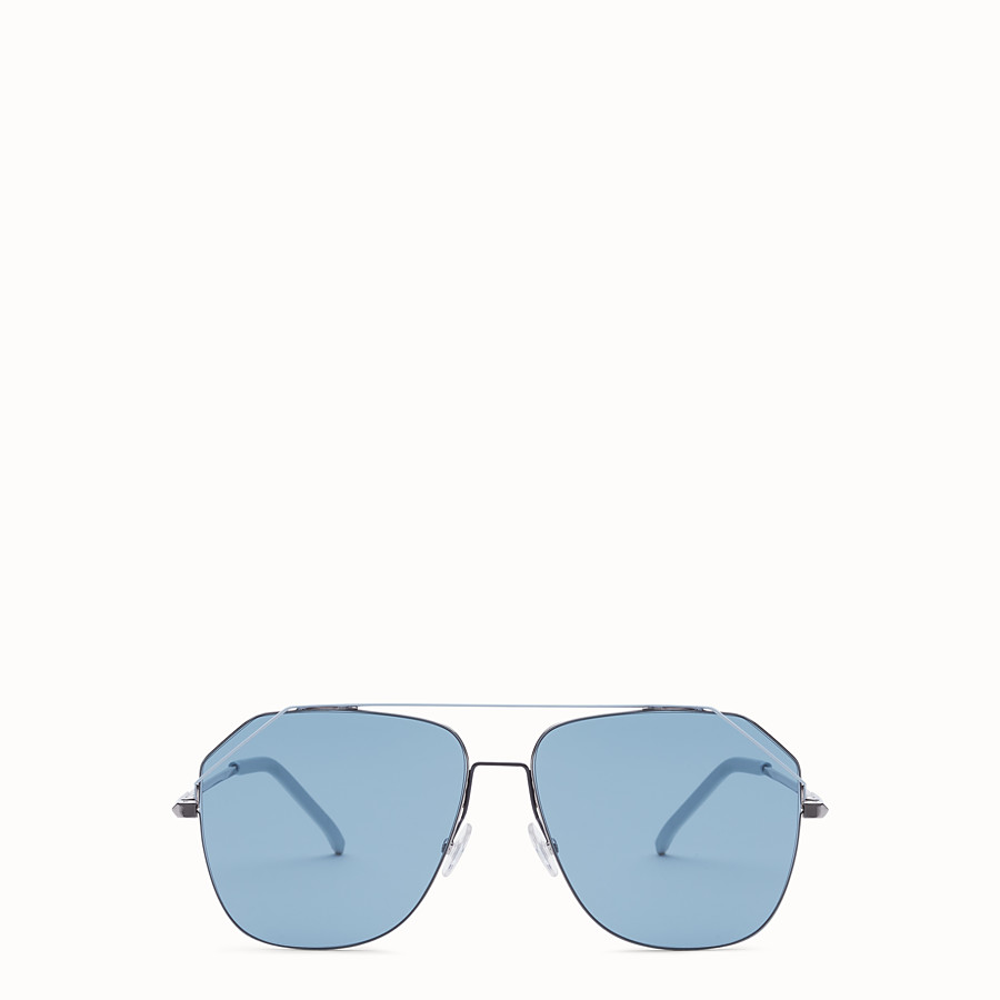 FENDI FENDIFIEND - Ruthenium and pale blue sunglasses - view 1 detail