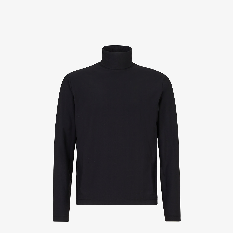 FENDI TURTLENECK - Black jersey jumper - view 1 detail