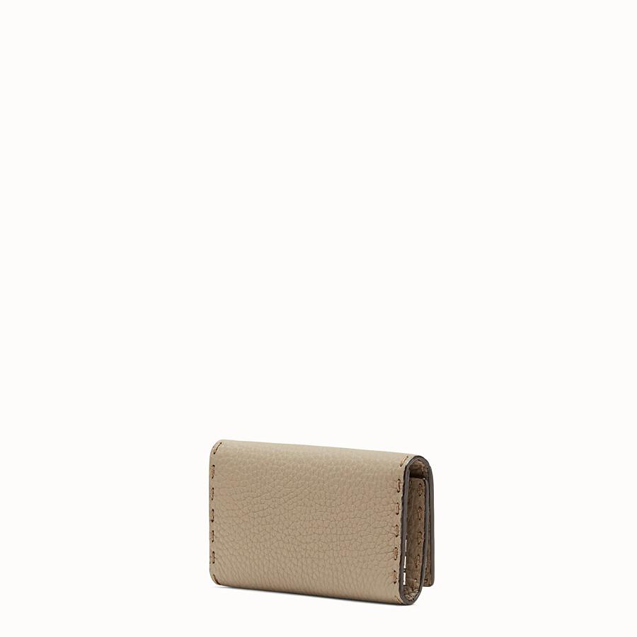 FENDI KEY RING - Beige leather key ring - view 2 detail