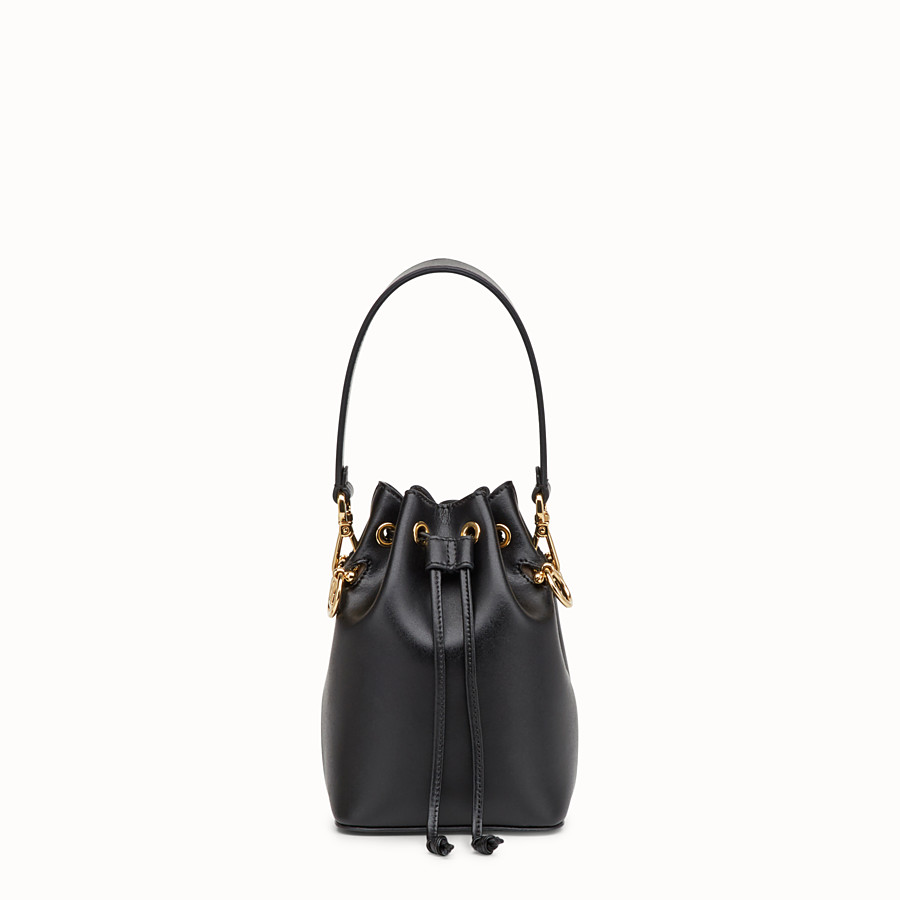 97e239805f88 Black leather mini-bag - MON TRESOR