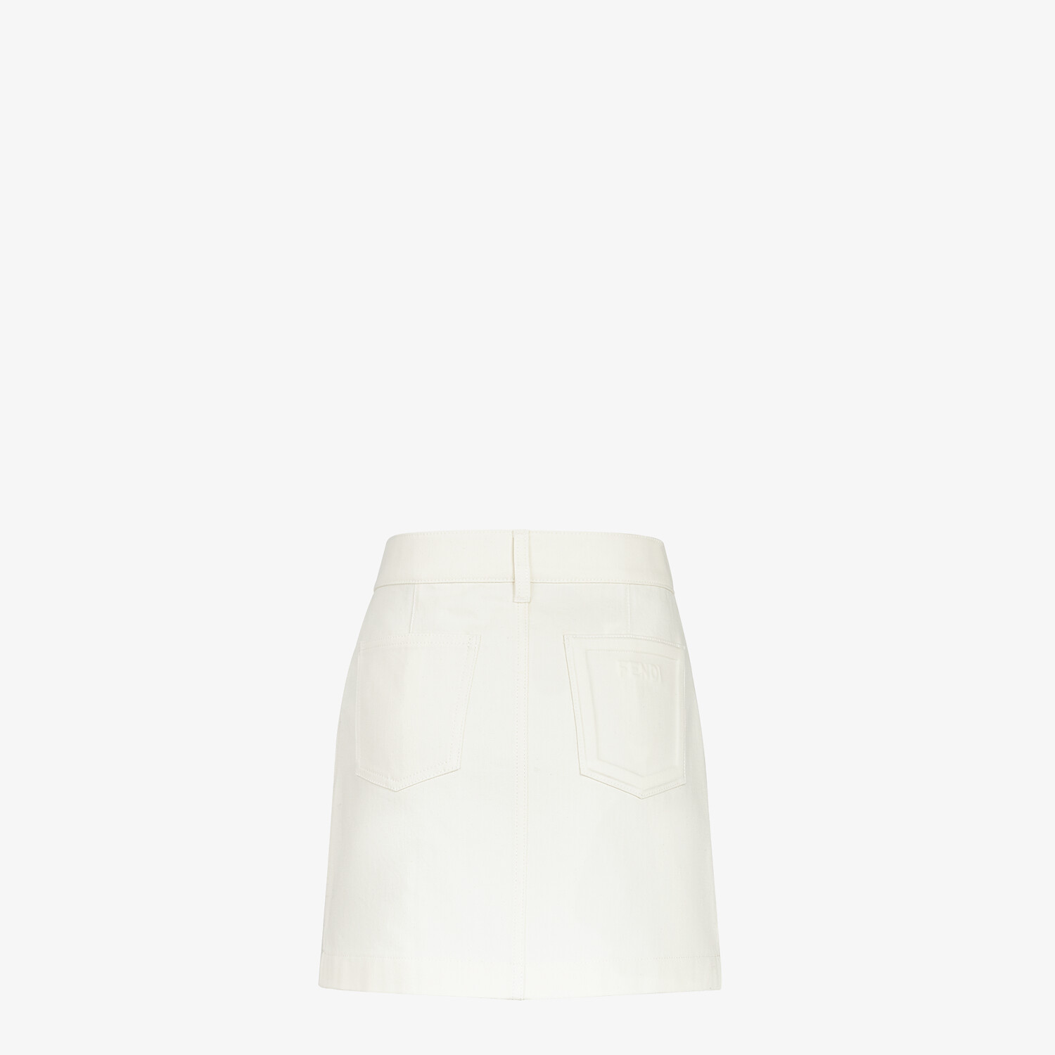 FENDI SKIRT - White denim skirt - view 2 detail