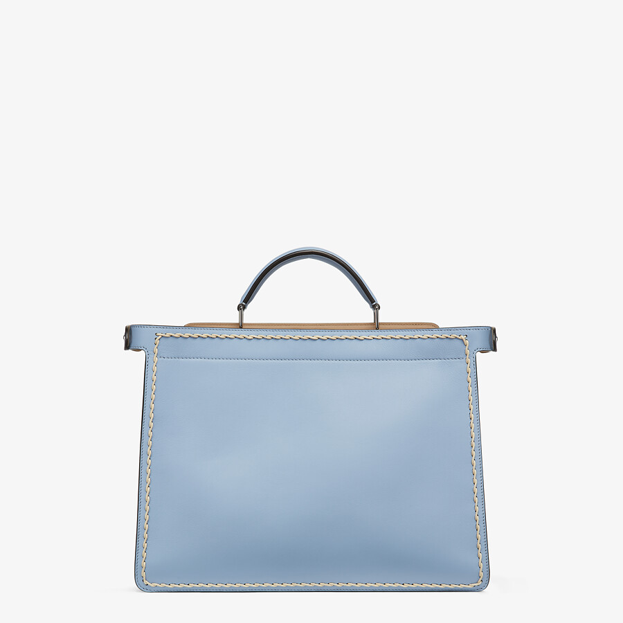 FENDI MEDIUM PEEKABOO ISEEU - Light blue leather bag - view 4 detail