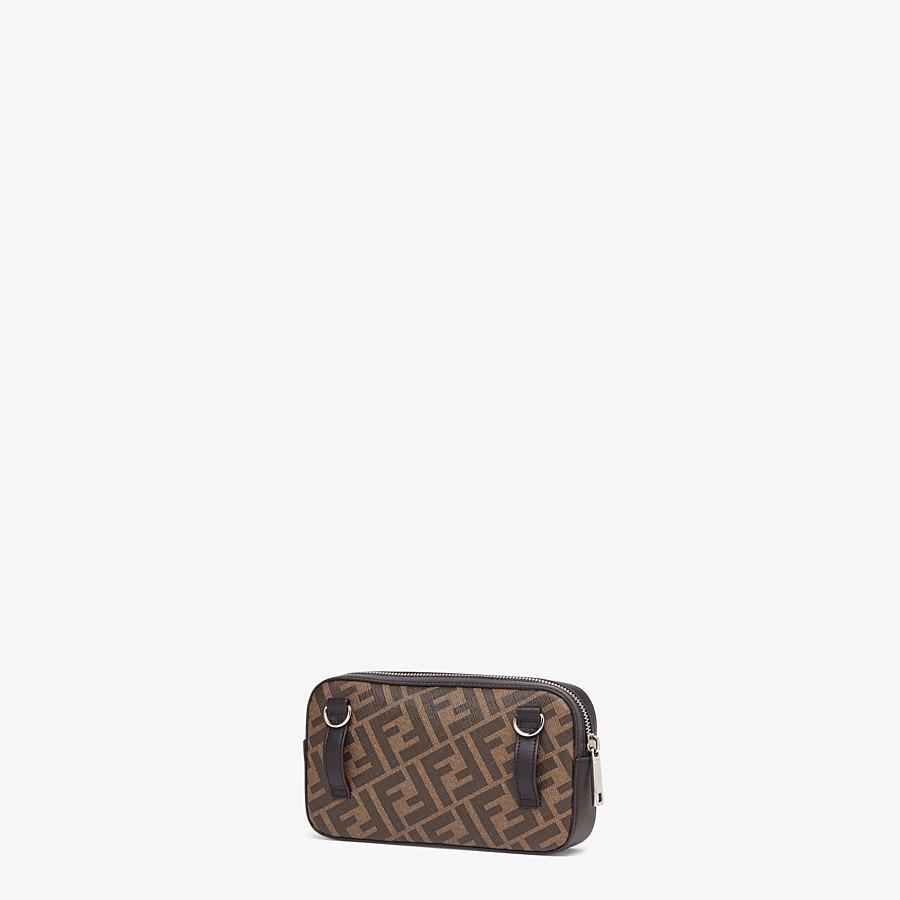 FENDI CAMERA CASE - Brown fabric bag - view 2 detail
