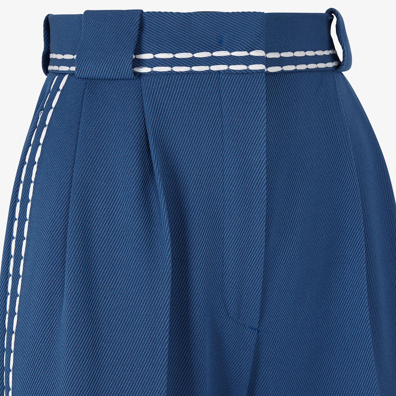 FENDI TROUSERS - Blue wool trousers - view 3 detail