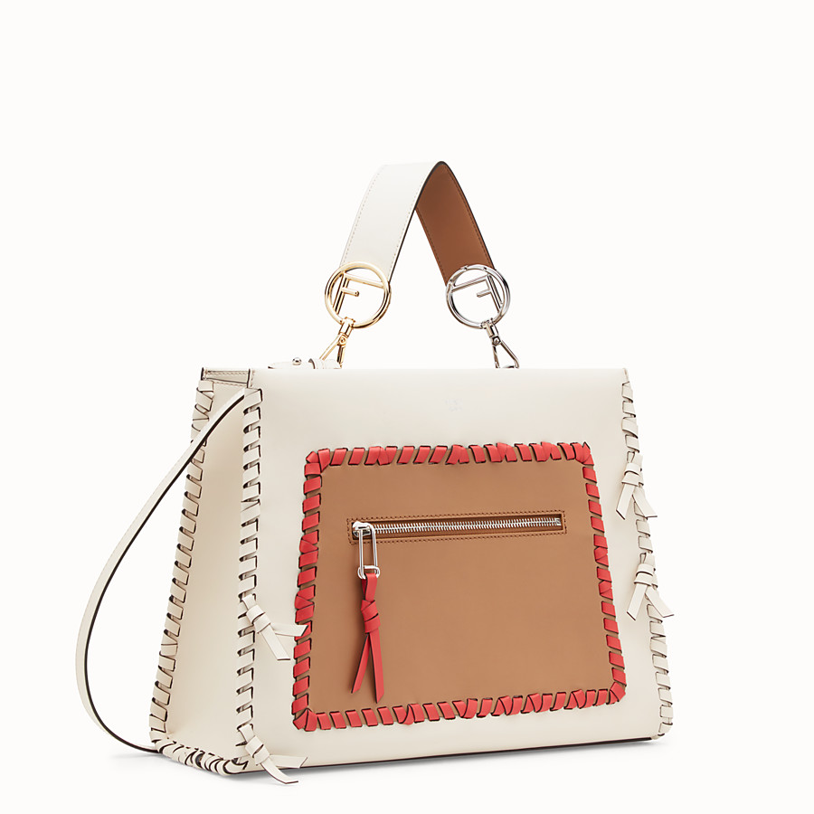 FENDI RUNAWAY REGULAR - White leather bag - view 2 detail