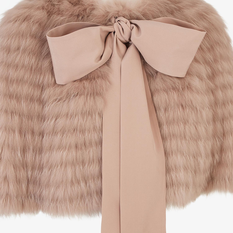 FENDI CAPE - Beige fox fur cape - view 3 detail