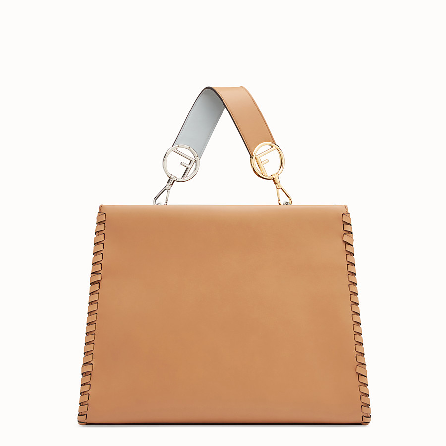 FENDI RUNAWAY REGULAR - Brown leather bag - view 3 detail