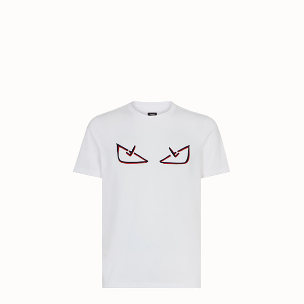FENDI T-SHIRT - T-Shirt aus Baumwolle in Weiß - view 1 small thumbnail