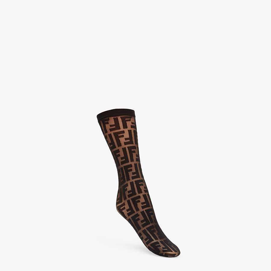 FENDI SOCKS - Multicolor nylon socks - view 1 detail