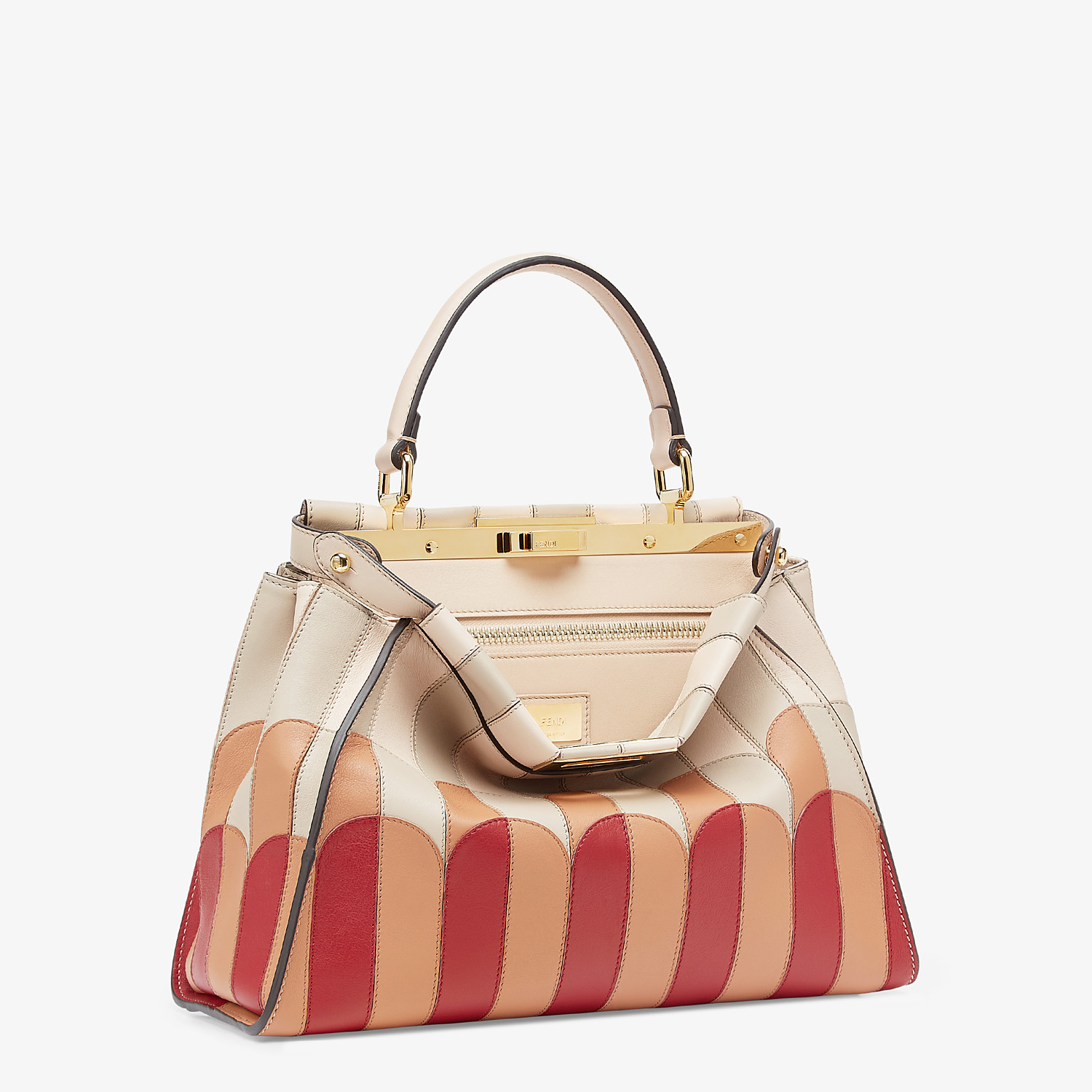FENDI PEEKABOO ICONIC MEDIUM - Pink leather bag - view 2 detail