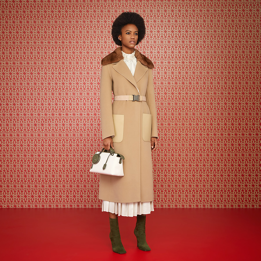 FENDI COAT - Beige cashmere coat - view 4 detail