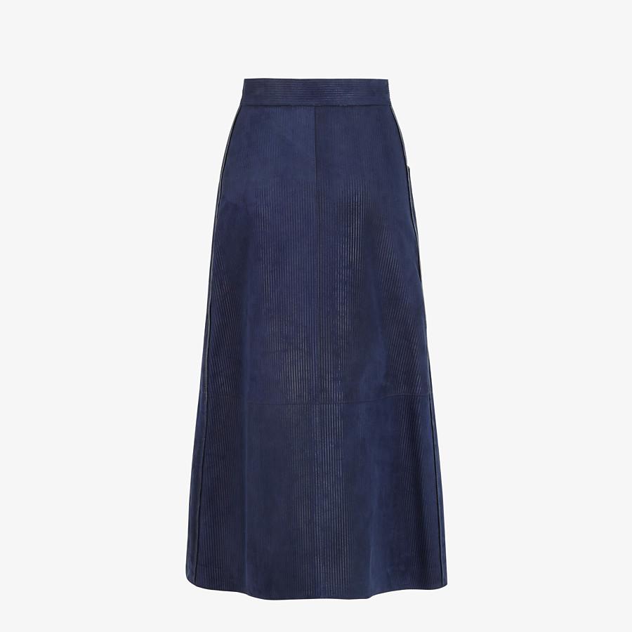 FENDI SKIRT - Blue suede skirt - view 2 detail