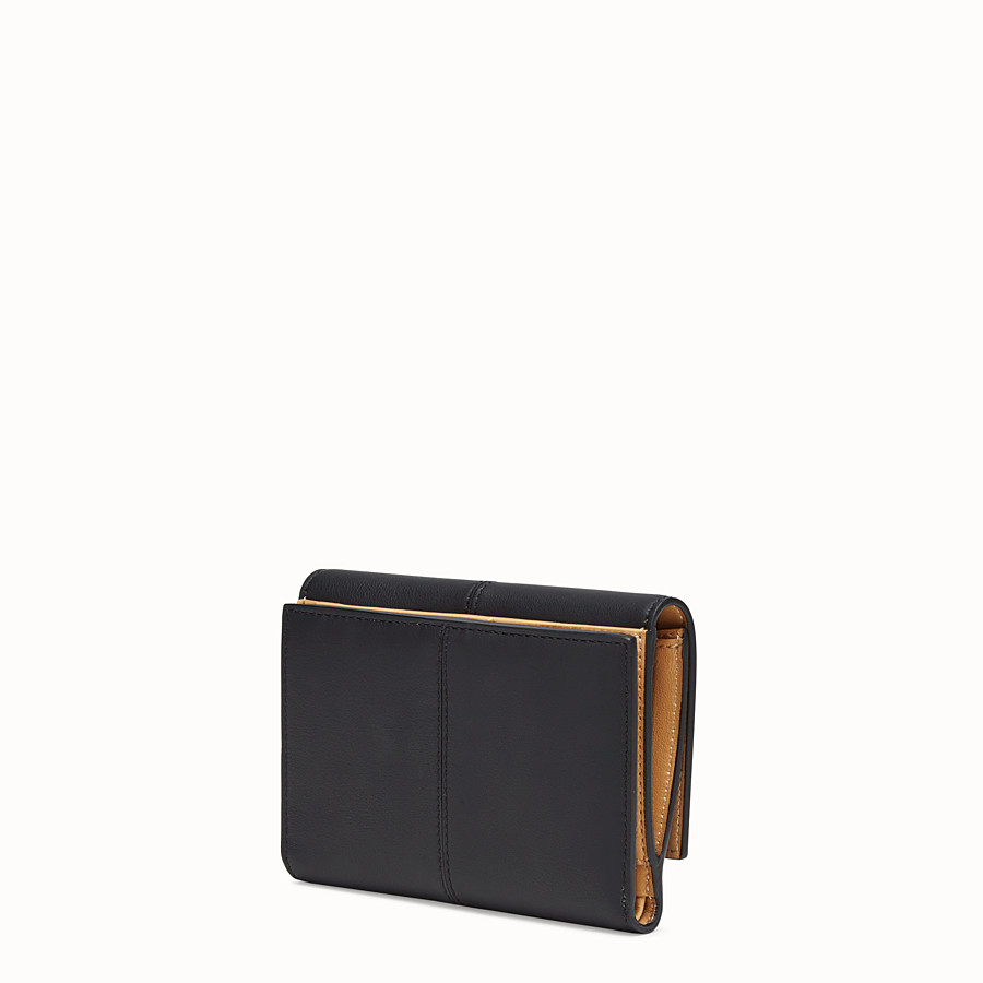 FENDI WALLET - Black leather cardholder - view 2 detail