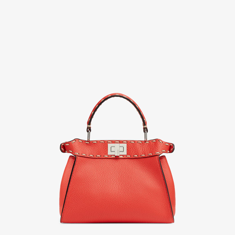 FENDI PEEKABOO ICONIC MINI - Red full grain leather bag - view 3 detail