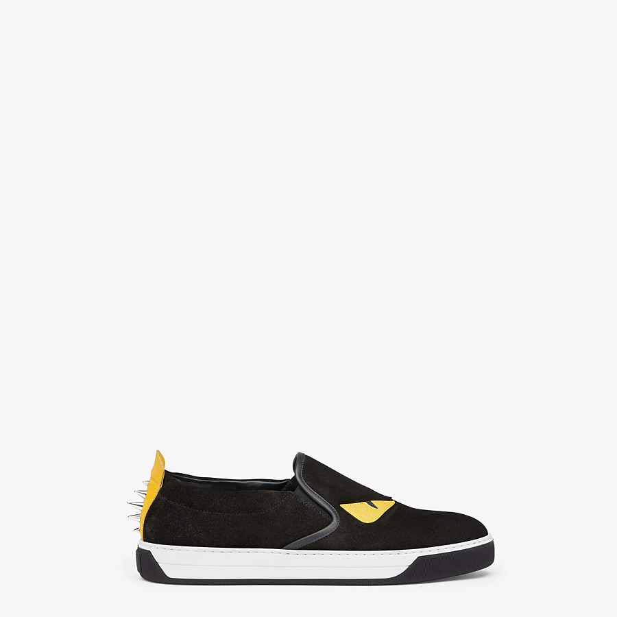 FENDI SNEAKER - Slip-on in schwarzem Leder - view 1 detail