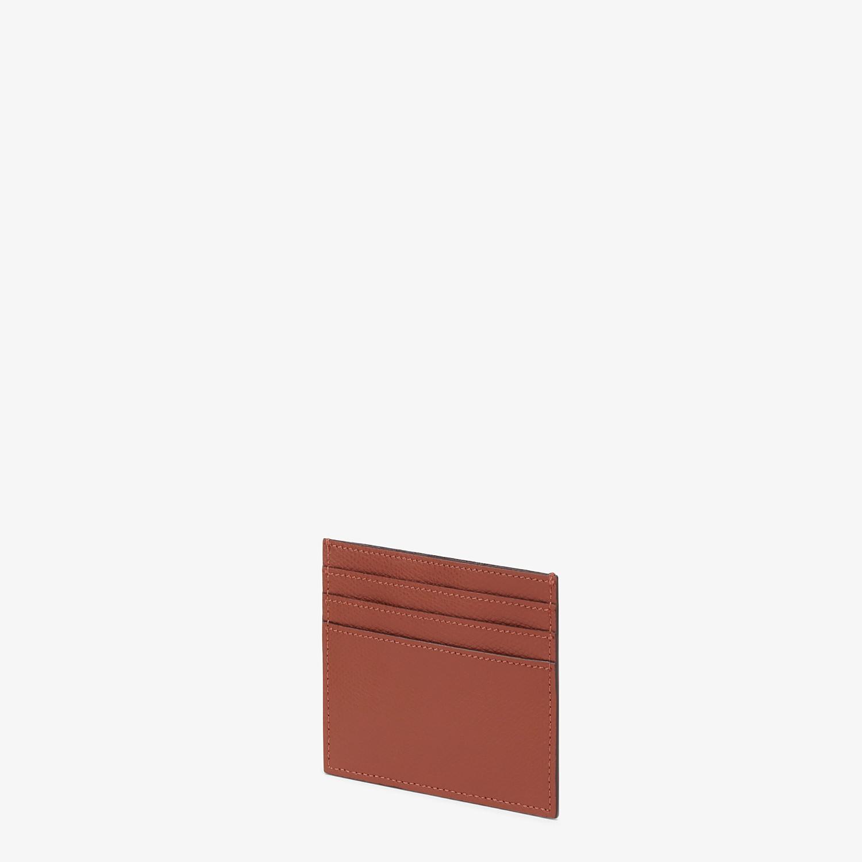 FENDI PORTACARTE - Porta carte piatto in pelle marrone - vista 2 dettaglio