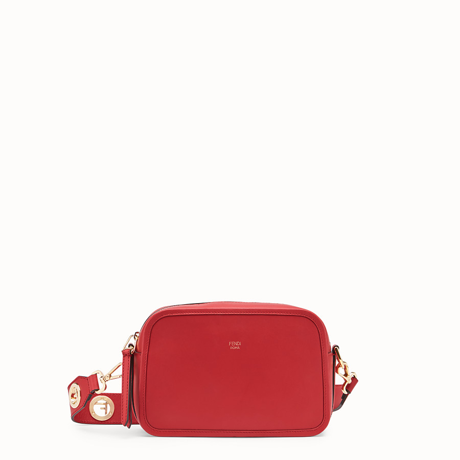FENDI CAMERA CASE - Red leather bag - view 1 detail