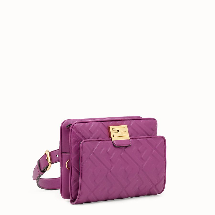 FENDI UPSIDE DOWN - Purple leather bag - view 2 detail