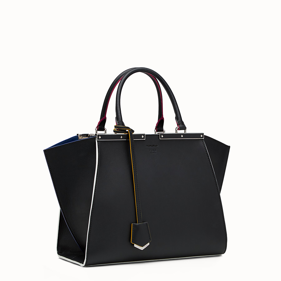 FENDI 3JOURS - Black leather shopping bag - view 2 detail