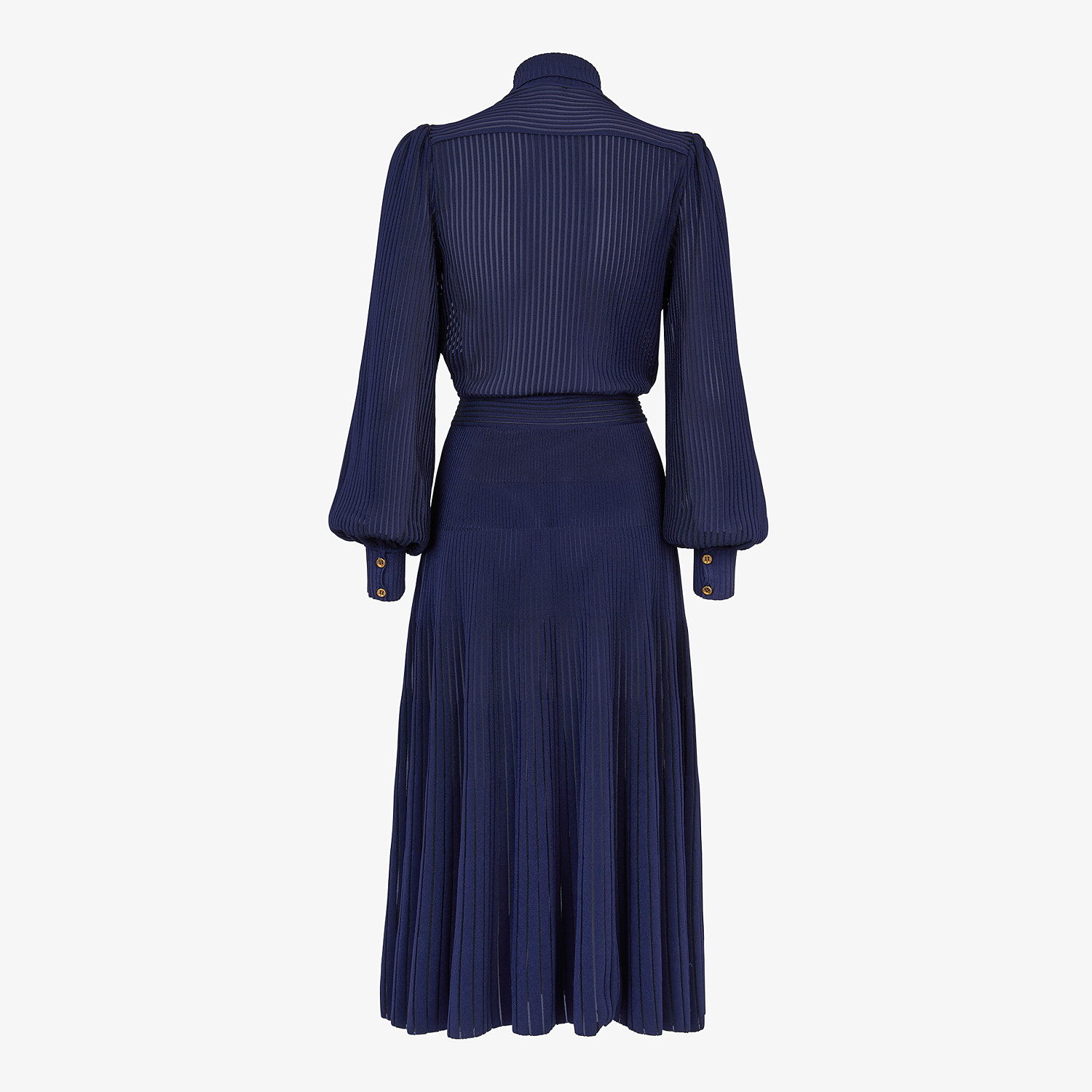 FENDI DRESS - Blue viscose dress - view 2 detail