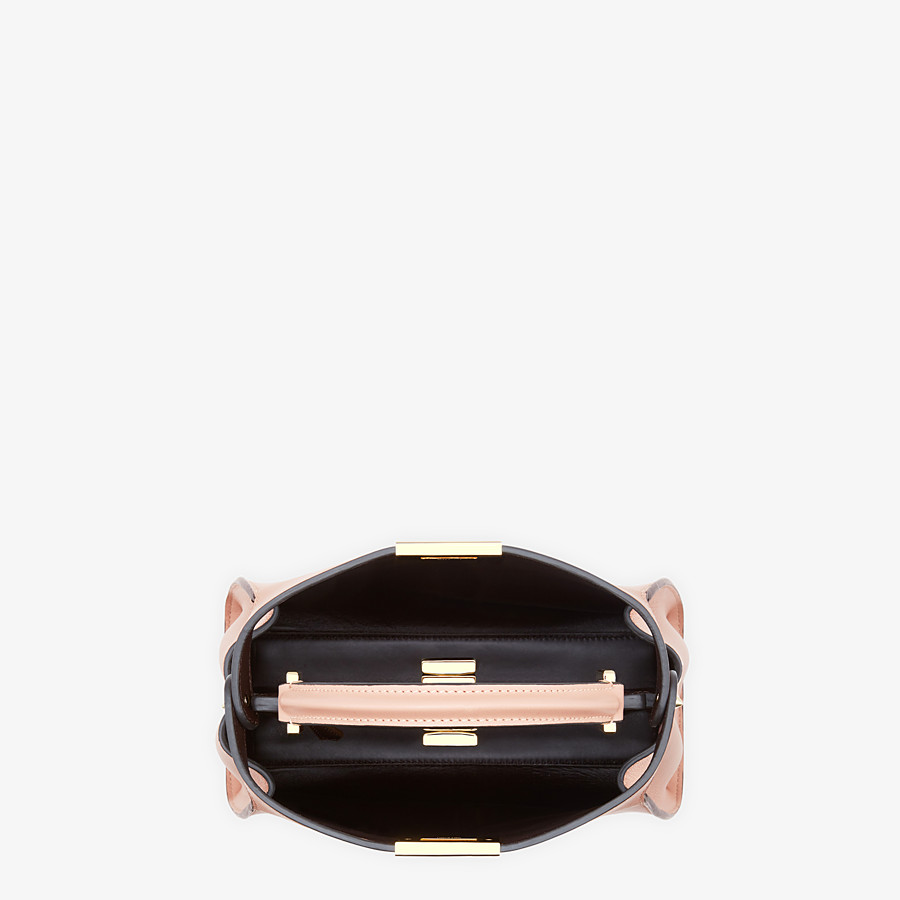 FENDI PEEKABOO ICONIC ESSENTIALLY - Tasche aus Leder in Rosa - view 5 detail