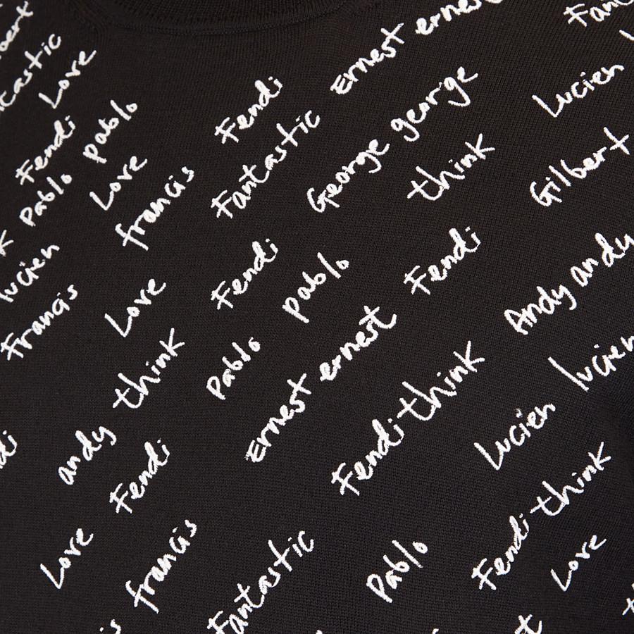 FENDI 套頭毛衣 - 黑色羊毛套頭上衣 - view 3 detail