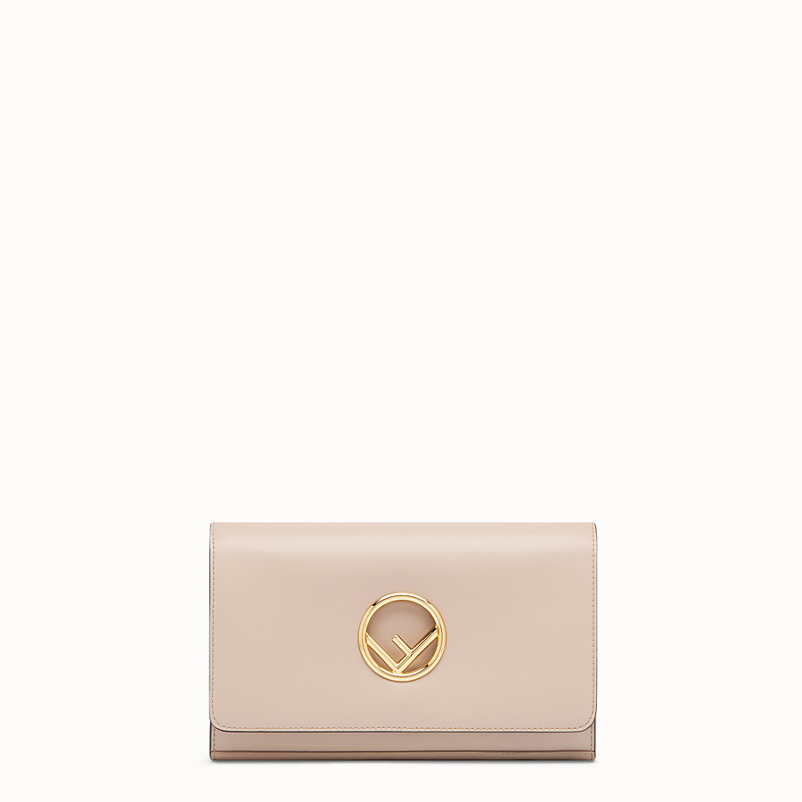 FENDI WALLET ON CHAIN - Pink leather minibag - view 1 detail