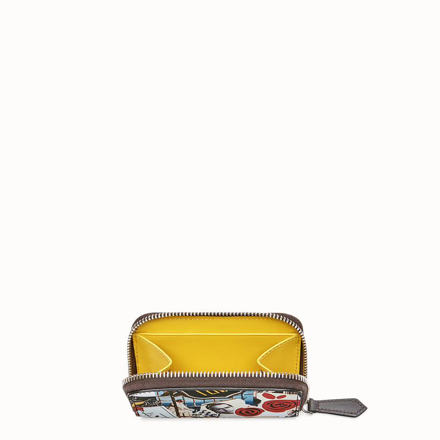 FENDI ZIP-AROUND - Multicolour leather wallet - view 3 detail