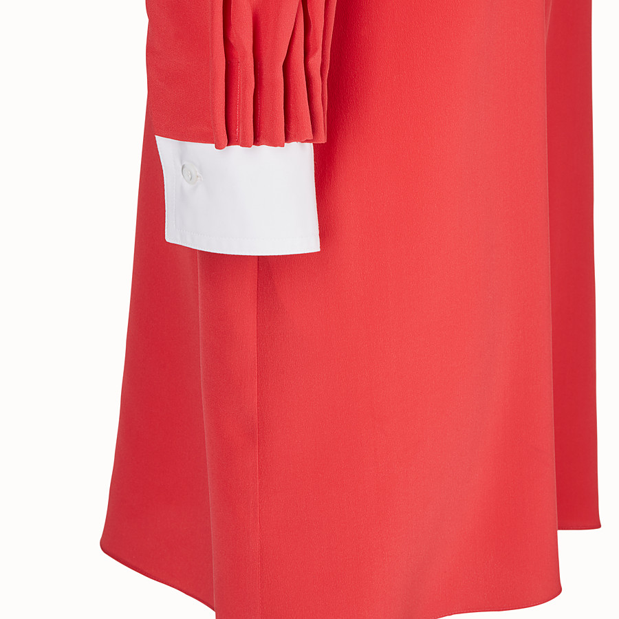 FENDI DRESS - Red silk dress - view 3 detail