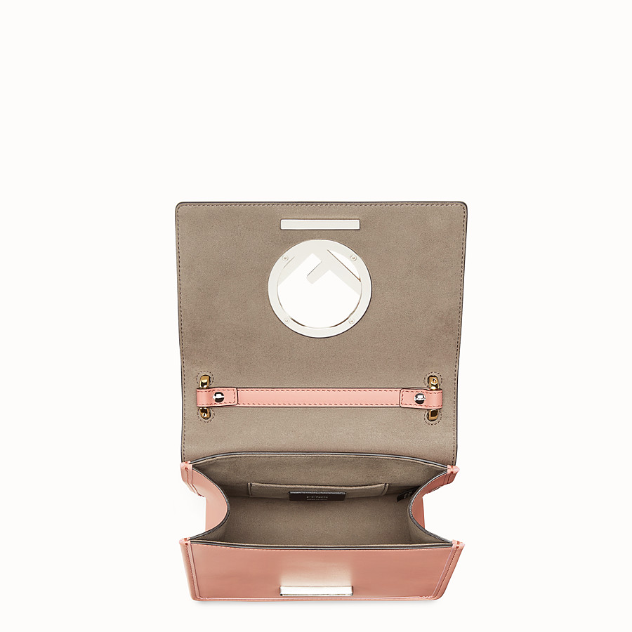 FENDI KAN I F SMALL - Pink leather mini-bag - view 4 detail