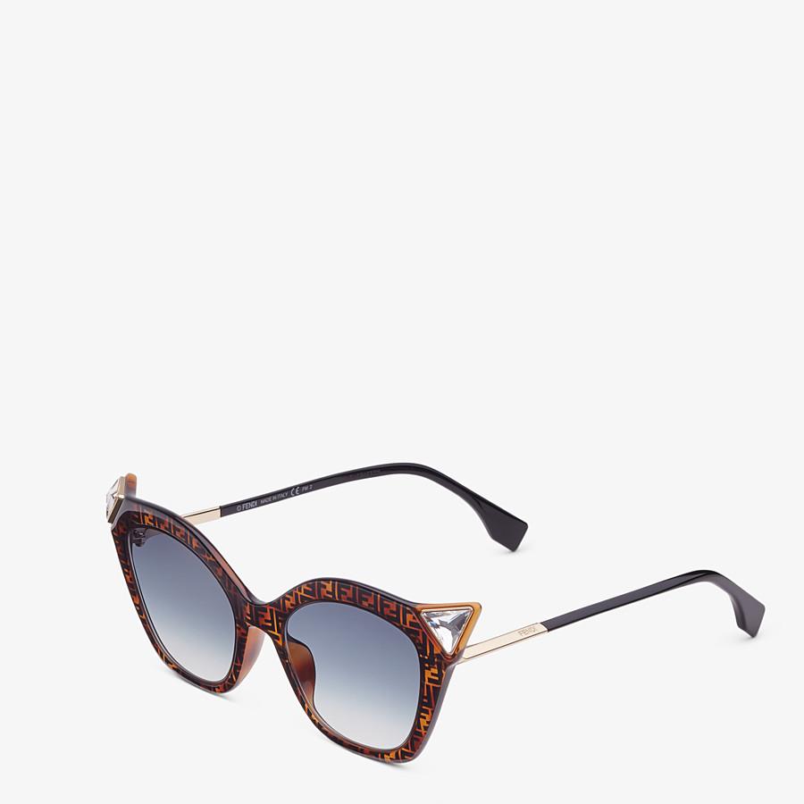 FENDI IRIDIA - Havana FF sunglasses - view 2 detail