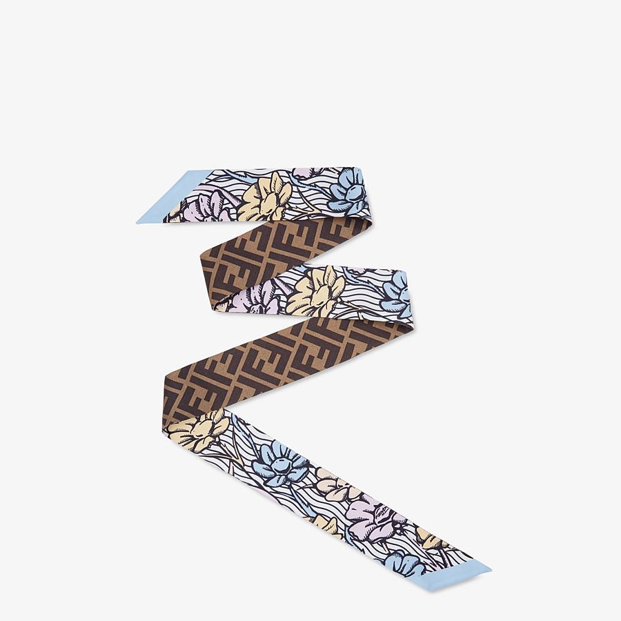 FENDI WRAPPY - Multicolor silk bandeau - view 1 detail