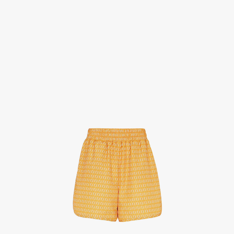 FENDI SHORTS - Orange nylon shorts - view 1 detail