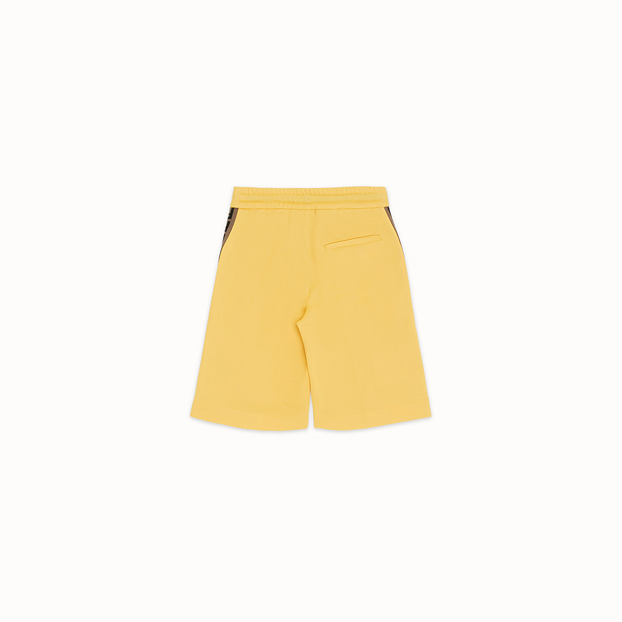 FENDI BERMUDAS - Yellow tech fabric bermudas - view 2 detail