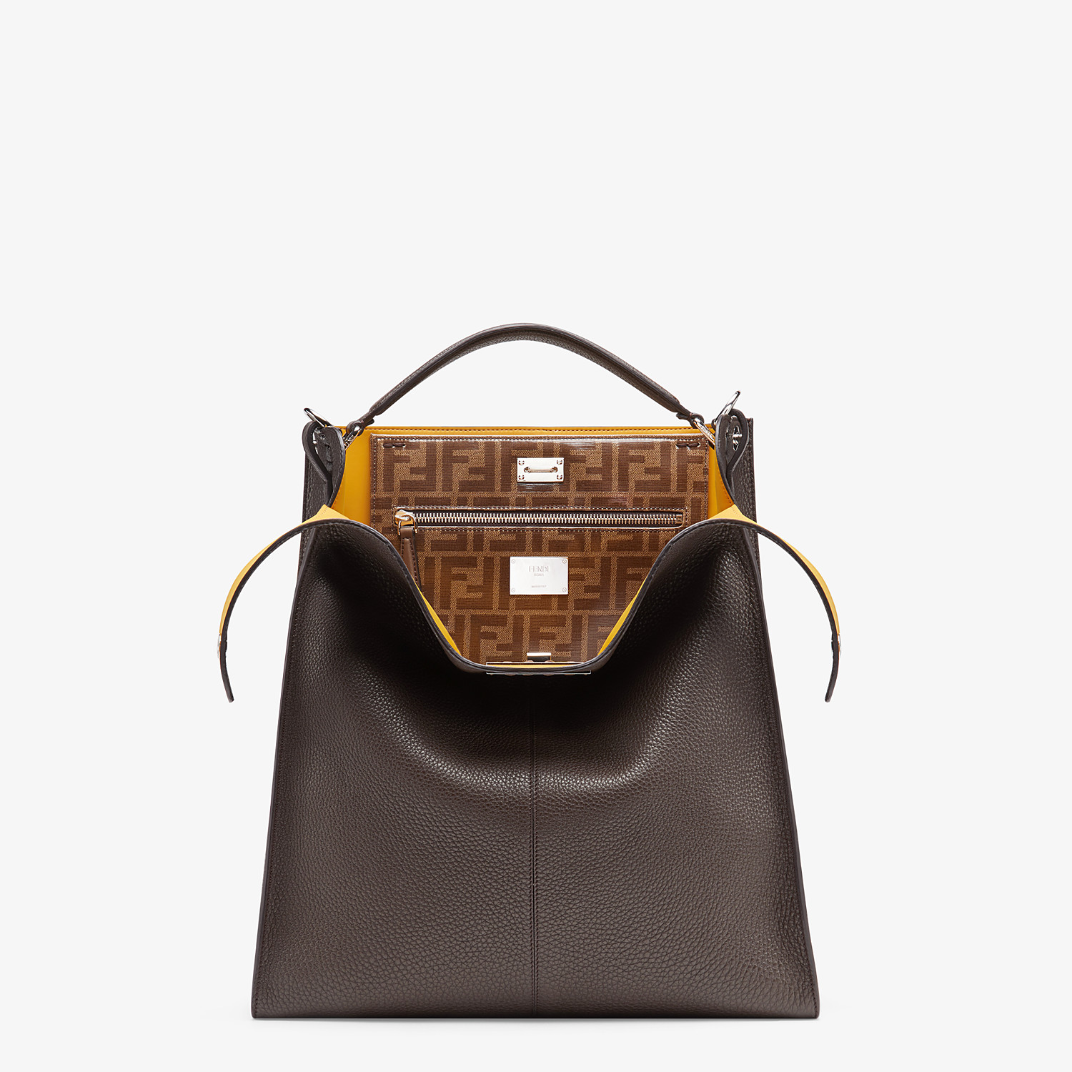 FENDI PEEKABOO X-LITE FIT - Brown leather bag - view 1 detail