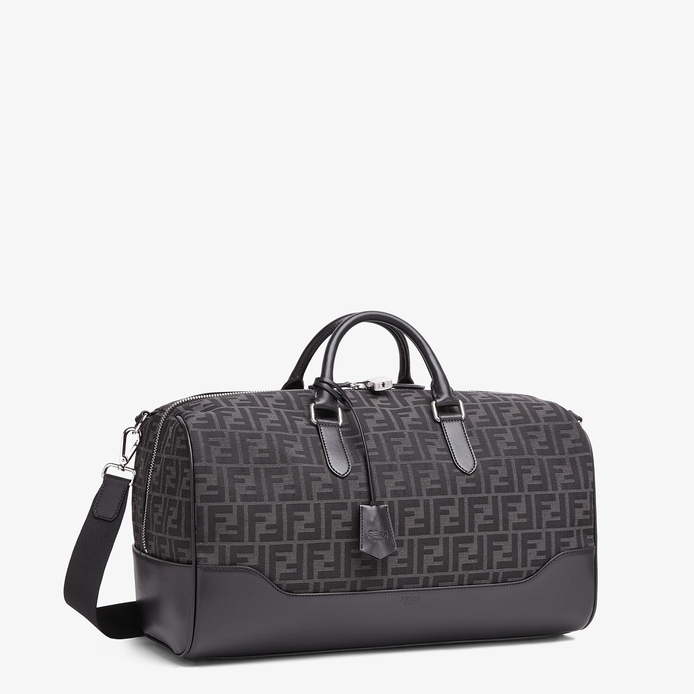 FENDI MEDIUM DUFFLE - FF jacquard fabric large bag - view 2 detail