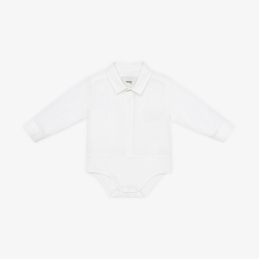 FENDI BABY ROMPER SUIT - Jersey and poplin baby body suit - view 1 detail